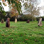 Stone circle with symbol decoration