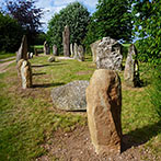 Norse style stone circle in the shape of a Viking long boat