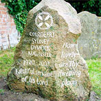 Hand carved glacial granite headstone with bespoke design