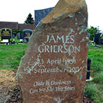 Natural headstone in pennant sandstone from the heart of Wales