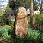 Garden monoliths work well in a woodland setting