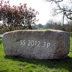 Personalised seat stone