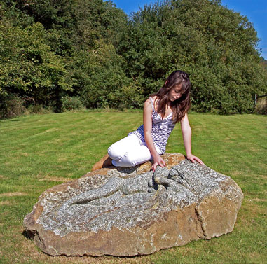 Garden seat stones dolmans and other stone garden features welcome stone hand carved seat stone workwithnaturefo